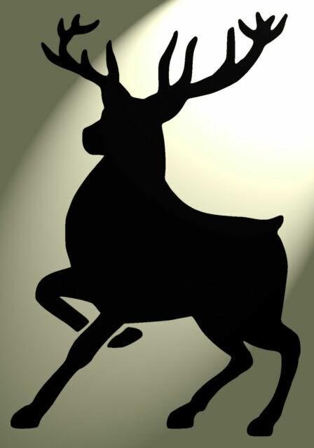 Shabby Chic plastic Stencil Stag deer vintage Vintage A4 297x210mm wall Design 4