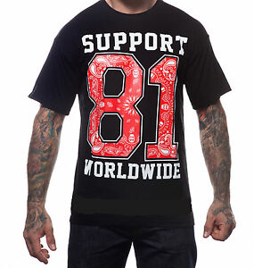 hells angels support 81 t shirt support 81 worldwide black. Black Bedroom Furniture Sets. Home Design Ideas