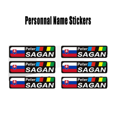 BIKE NAME FLAG PERSONAL STICKERS ROAD MTB CYCLE CYCLING FRAME HELMET TUBE DECALS