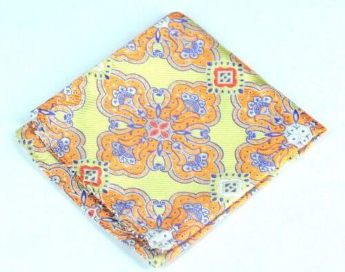Lord R Colton Masterworks Pocket Square $75 New Cape Horn Citrus Silk