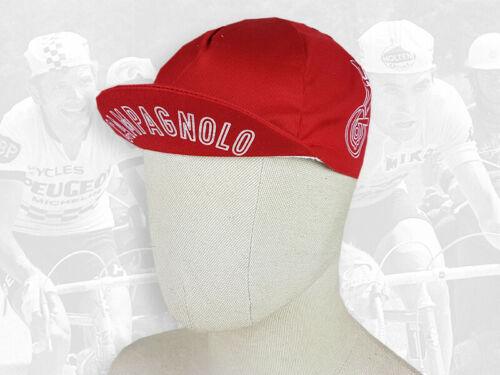 CAMPAGNOLO red Retro Vintage style Cycling Cotton Cap Eroica FREE SHIPPING