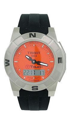 Tissot T-Touch T001.520.47.281 Mens Orange Analog Digi Titanium Silicone Watch