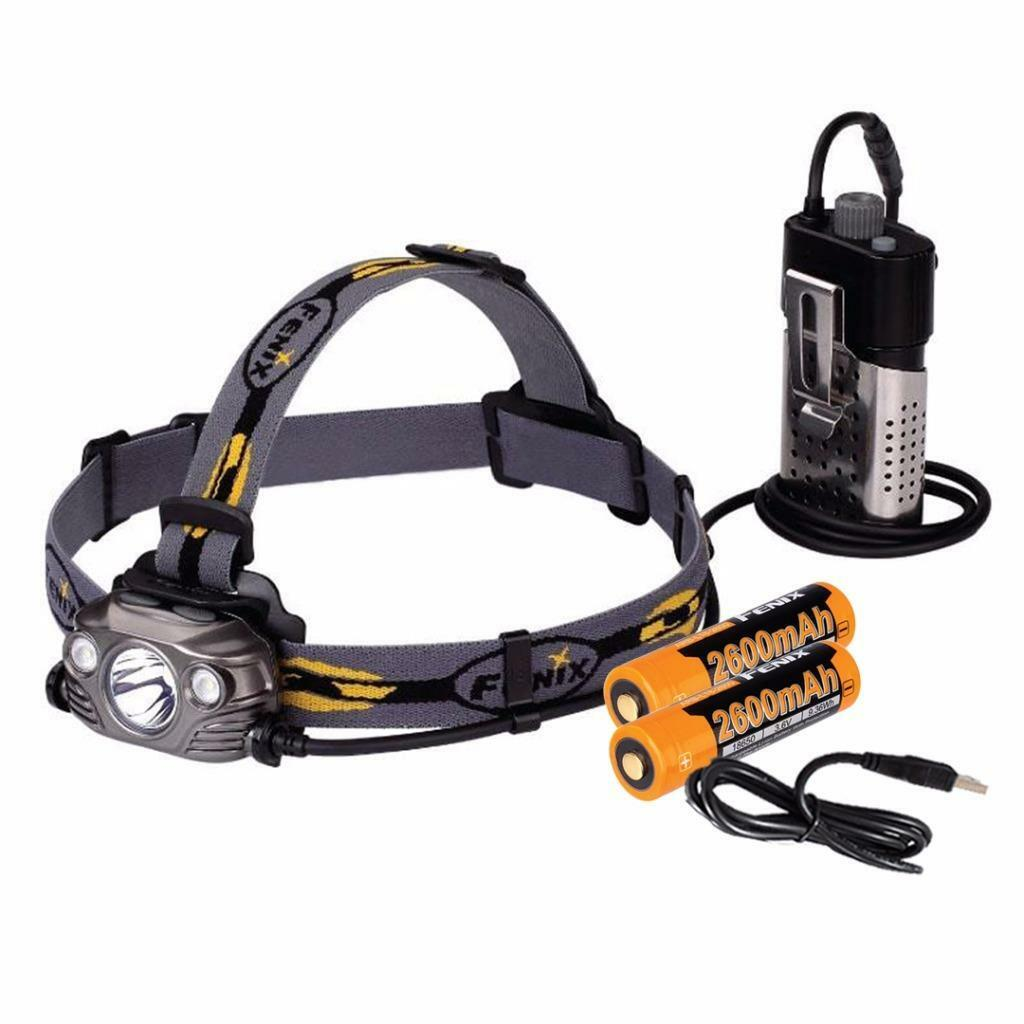 Fenix HP30R 1750 Lumens Dual Output USB Rechargeable LED Headlamp (Iron Grey)