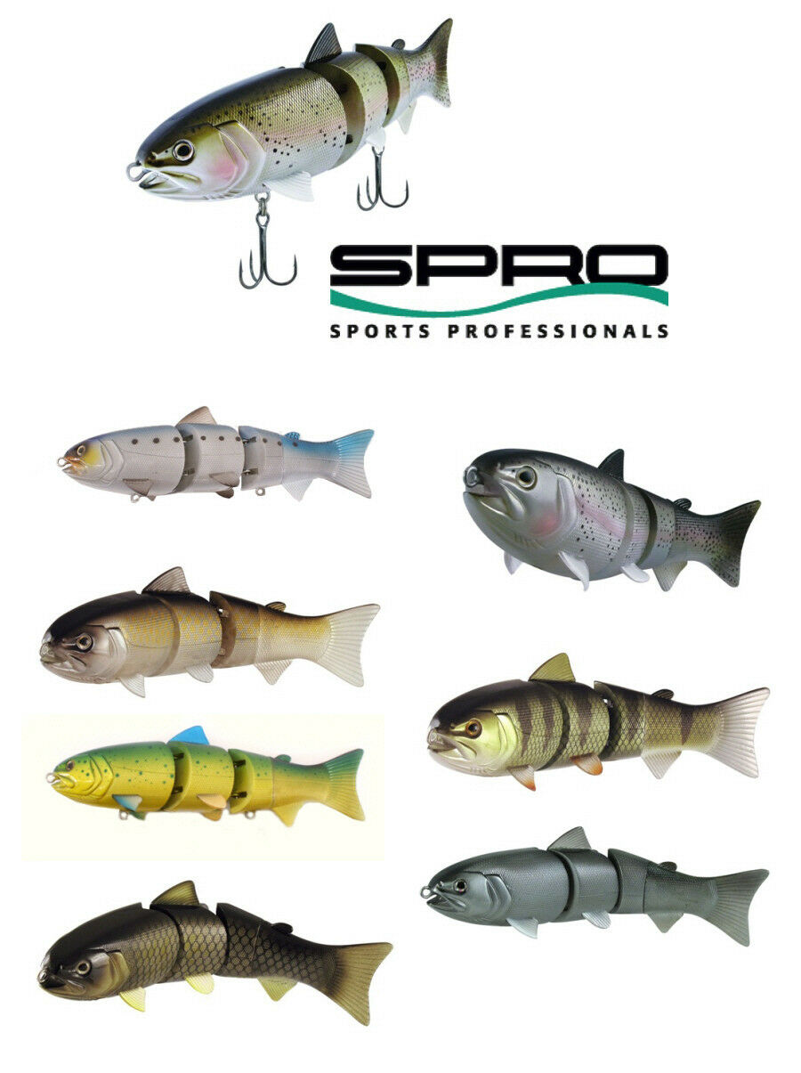 Spro Bbz-1 Swimbait 8  Slow Sinking Various colors Bass Fishing Lure Bait