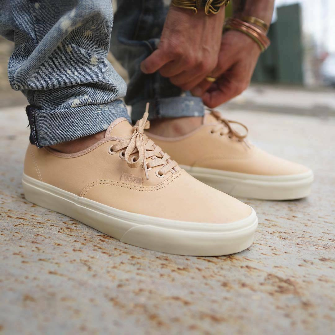VANS Authentic DX Premium Veggie Tan Leather US 12 Ultracrush FOG Pacsun Sautope classeiche da uomo