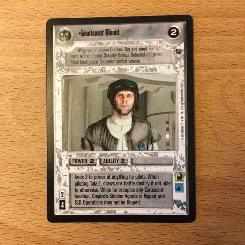 SWCCG Rare Lieutenant Blount NM//M Star Wars CCG Death Star 2