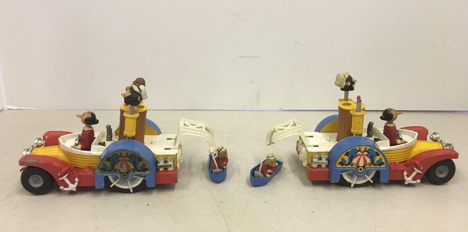 Vintage Corgi Comics Popeye Paddle wagon Diecast Lot de 2 jouets