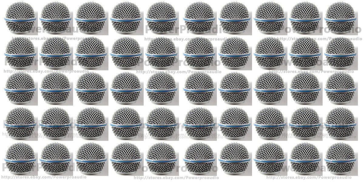 50XBall Head Mesh Grille Accessories for Shure BETA58 BETA58A SM58 SM58S SM58LC