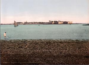 France-Lorient-Port-Louis-La-citadelle-vintage-print-photochromie-vinta