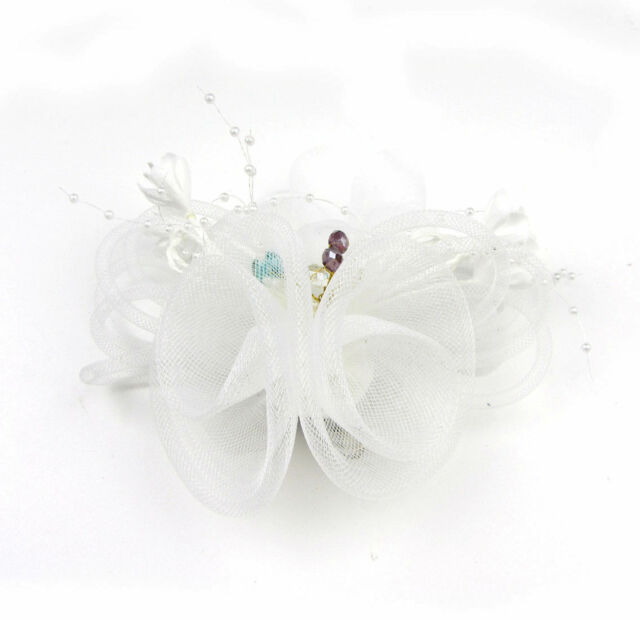 Copper Bead Flower Headdress Brooch Clip Bride Races Cocktail Party Make Up