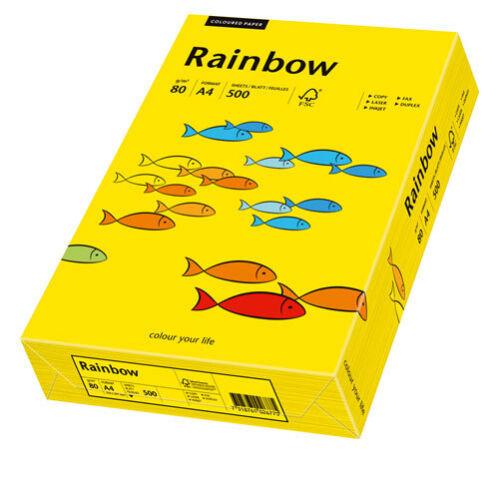 intensivgelb Multifunktionspapier Rainbow 500 Blatt 80 g//qm Papyr... DIN A4
