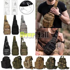 Outdoor Shoulder Backpack Military Tactical Travel Camping Hiking Trekking Bag