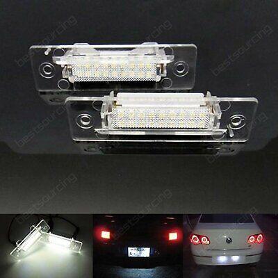 X18 2x Top Quality LED License Plate Light Audi R8 VW Seat Porsche Skoda