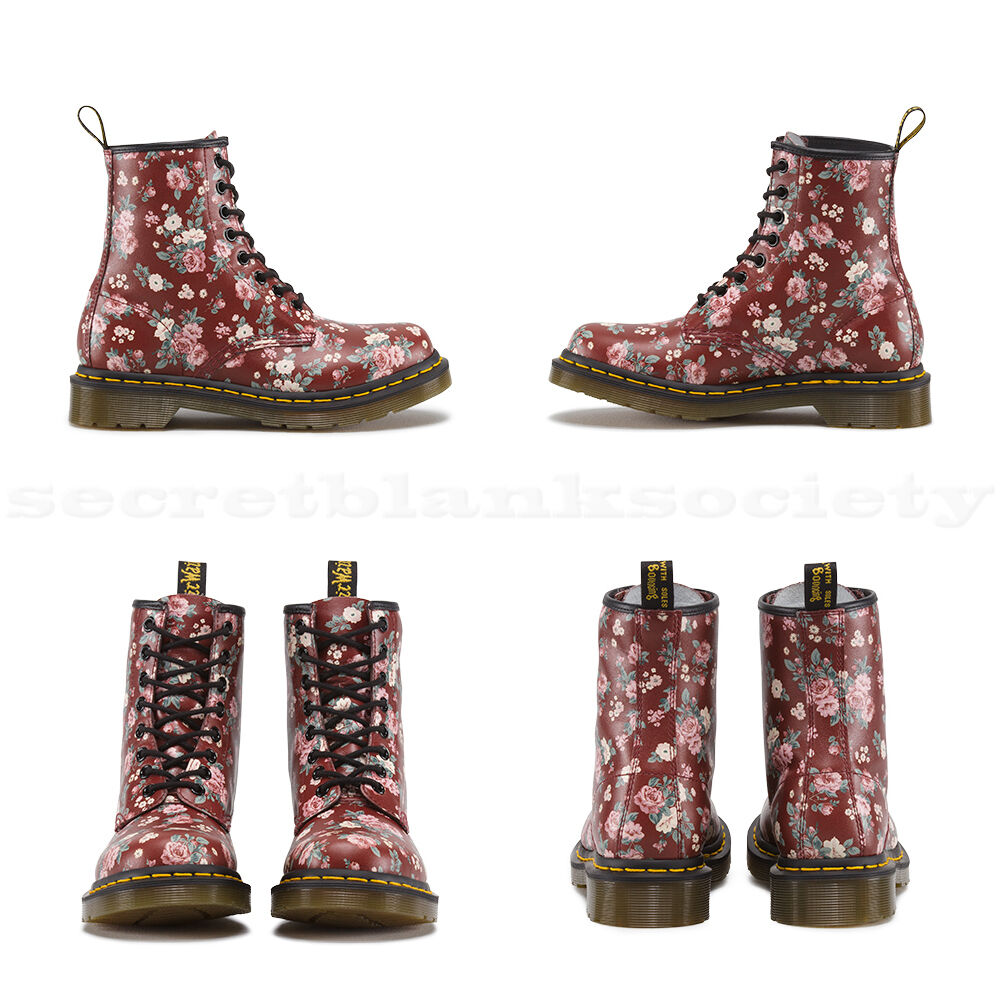 Dr. Martens - 1460 W | 11821614 - Womens Boots | Cherry Red / Vintage Rose