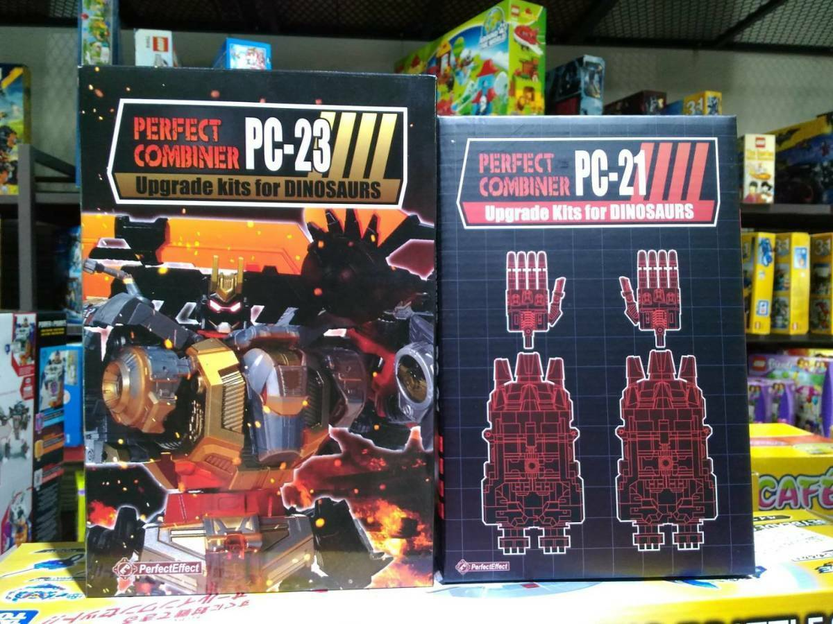 [W.H]MISB Perfect Effect PC-21+ PC-23 Combiner Upgrade Set for POTP Dinobots