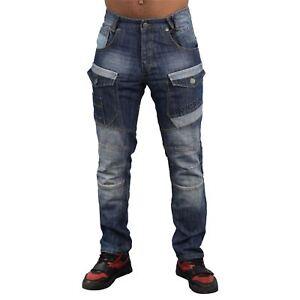 Mens Jeans Rawcraft Cargo Combat Denim Pants Hummer quality Jeans