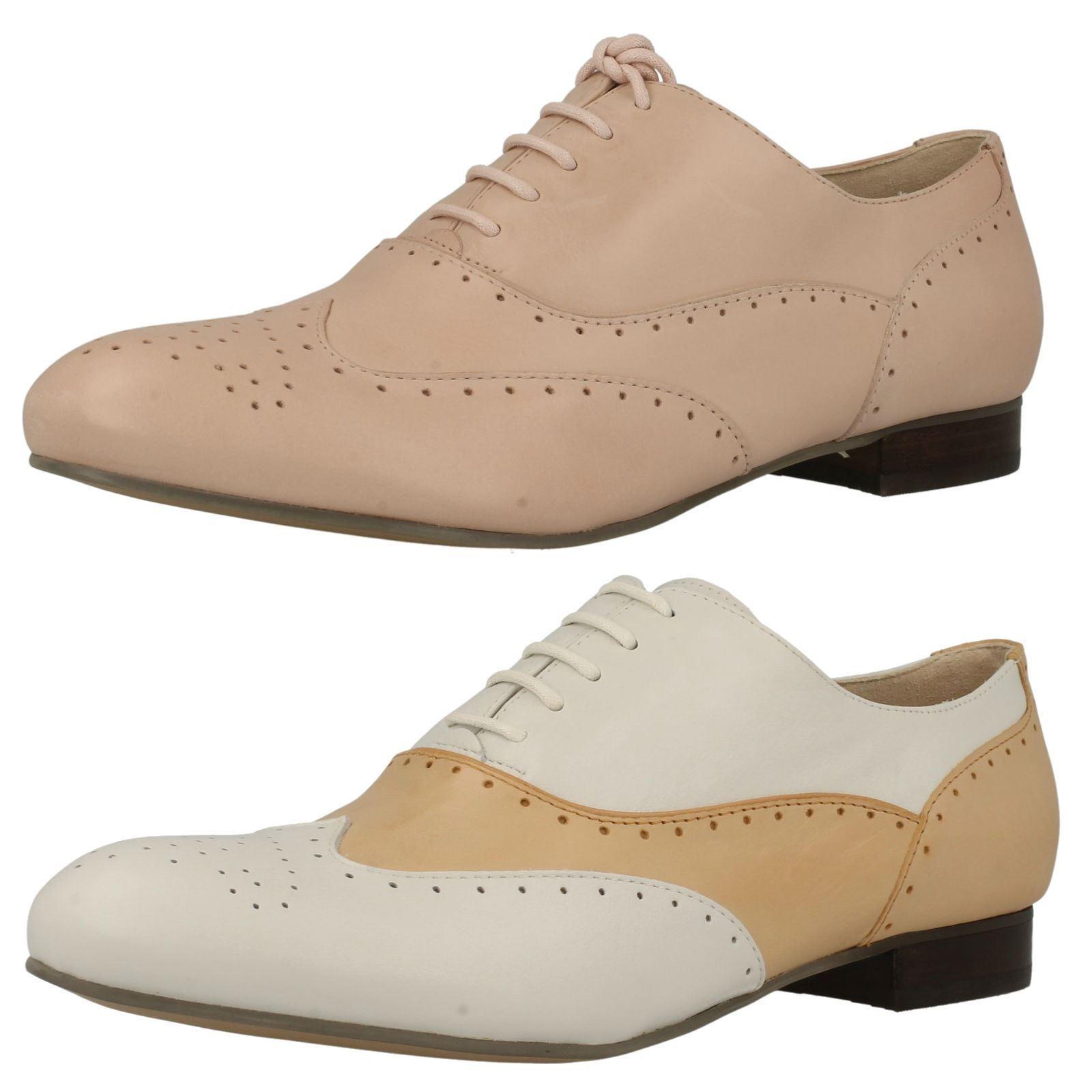 Cómodo y bien parecido Clarks Mujer Cuero Tacón Bajo Planos Con Cordones Zapato Oxford Elegante Ennis
