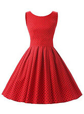 Retro Women's Vintage 50's Audrey Style Rockabilly Swing Party Cocktail Dress