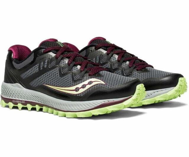 Saucony Peregrine 8 Women's Trail Running Shoes BlackMintBerry, Pick A Size