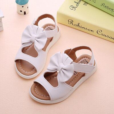 Summer Cute Kids Children Sandals Fashion Bowknot Girls Flat Pricness Shoes 1-6T
