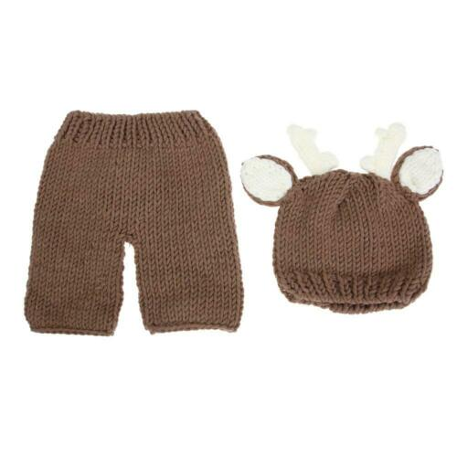Newborn Baby Knitted Clothes Photo Crochet Costume Photography Prop Outfit LOT