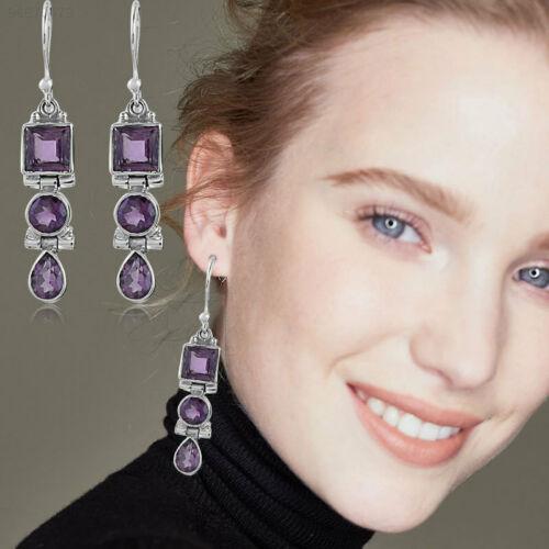 AB8C 2pcs Diamond Ear Studs Earrings Jewellery Moonstone Beauty
