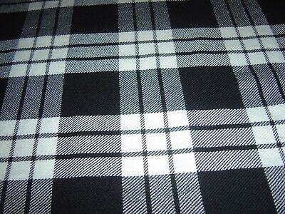 Frugale 8 Yd (ca. 7.32 M) Scottish Highland Uomo Tradizionali Per Kilt In Cucita Pieghe Top Quality-
