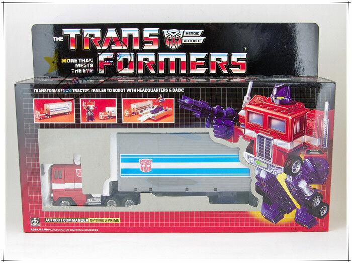 Transformers Classic Reissue G1 Optimus Prime + car metal front