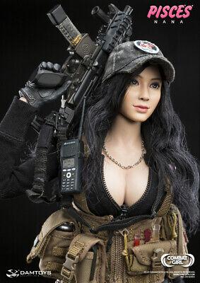 "DAM TOYS 1//6 DCG003 Combat Girl Series PISCES NANA glasses model F12/"" Action"