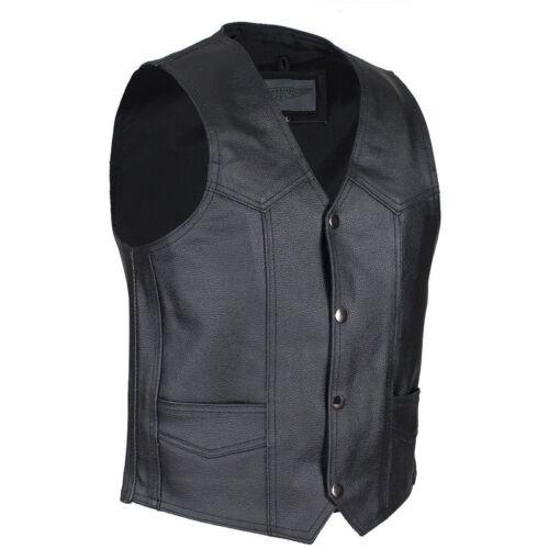 Biker Kids Boys Black Leather Motorcycle Vest XS 4T-5T Toddler Childs