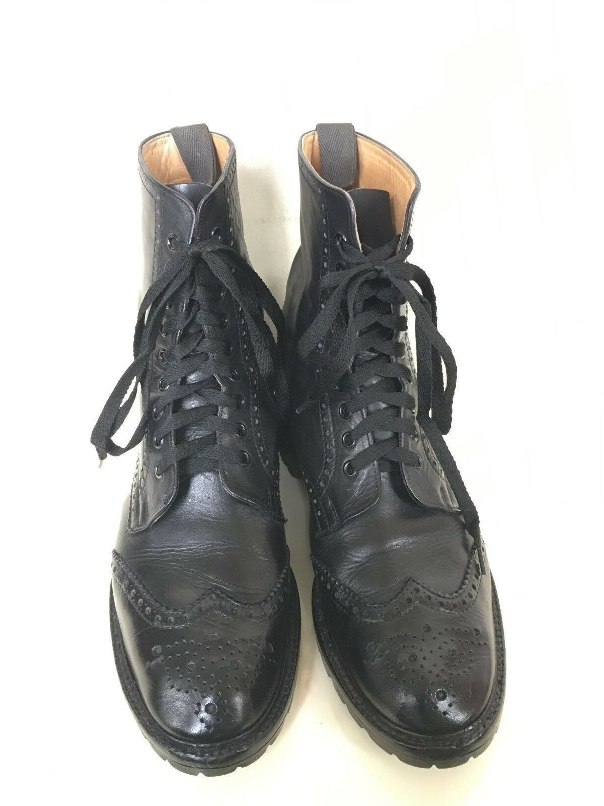 To Boot NY wingtip boots by Alfred Sargent Black England Sz / US 11