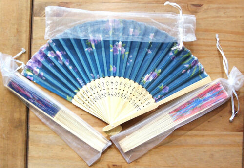 Party,21cm,Free Bag 1x Colour Flower Chinese Silky Folding Hand Fans Wedding