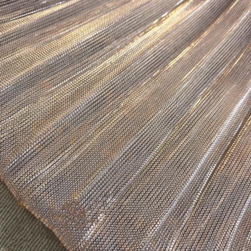 Hologram Metallic Pleated Mesh Net Sheer Fabric Organ Skirt Dressmaking Sew Trim