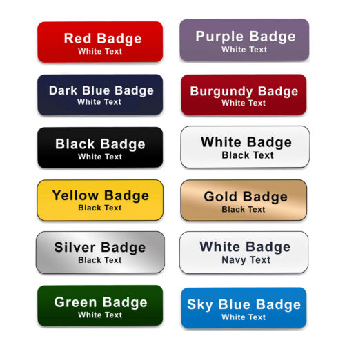 ROTATING CLIP /& PIN Staff Personalised Name Badges Student Nurse Social Worker