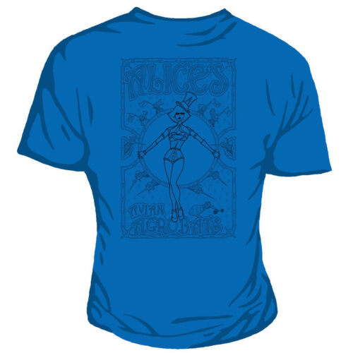 Genki Robert Rankin Alice Avian Acrobats Steampunk Nouveau Blue Fitted Tshirt