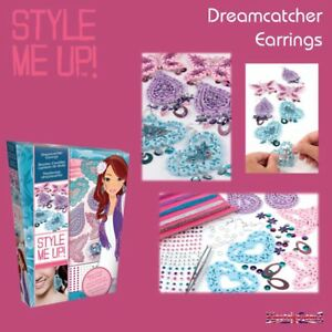 Style-Me-Up-Dreamcatcher-Earrings-Create-3-Pairs-with-Beads-amp-Metallic-Thread