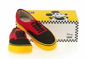8cfd6df1ec0 VANS Disney Mickey Mouse Red Black Yellow Sole Woman Authentic Shoes ...