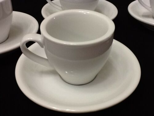 12 pc cup and saucer set White coffee Cup set CH.25 DOZ Espresso coffee cup