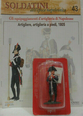 """Soldatini Napoleonici In Piombo """"artigliere, Artiglieria A Piedi, 1805"""" C/fascic"""