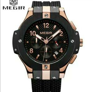 NEW MEGIR Brand Men Watch Quartz, Water Resistant Chronograph Mens Wrist...