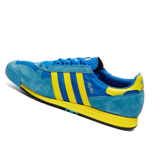 ADIDAS-MENS-Shoes-SL-80-OG-Blue-amp-Yellow-FV4029