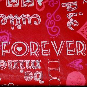 Valentines Vinyl Tablecloth Flannel Back All Sizes Hearts