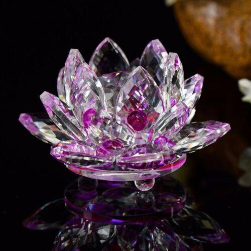 Paperweight Decoration Wedding Figurines Glass Flower Crafts Crystal Lotus