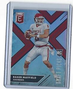 Details About 2018 Panini Elite Draft Picks Baker Mayfield Rookie Throwing Oklahoma 139