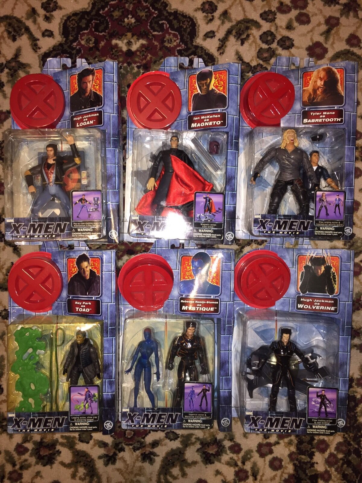 Lot of 6 X-Men Movie ToyBiz Action Figures (Adult Collector) NIB Mint