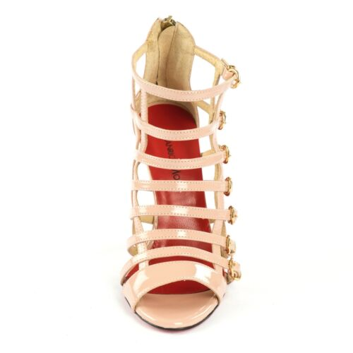 Mori Sandalo Sandalo pelle Sandalo Sandalo 43 con tacco Italy gladiatore Beige in r0qrY
