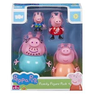 Peppa-Pig-Family-Figures-Pack-of-4-Mummy-Daddy-Peppa-Figurines-Toy-Set