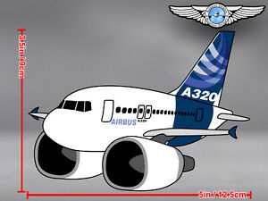 AIRBUS-A320-A-320-PUDGY-CUT-TO-SHAPE-DECAL-STICKER