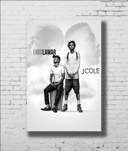 P-699 Art Kendrick Lamar and J Cole Rapper Music Star LW-Canvas Poster 24x36in