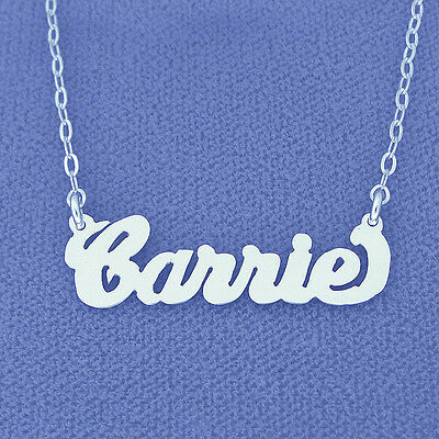 Sex and the City Carrie Style Silver choker Name Necklace SN11S